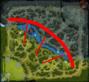 Dota 2 Map Dominance trough Wards