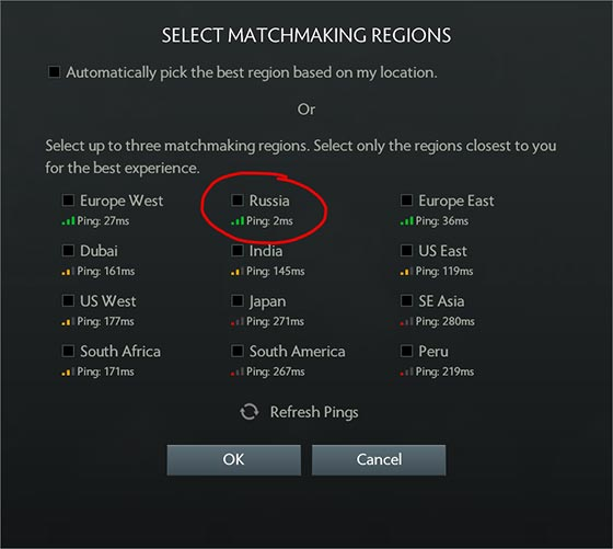 Dota 2 Server Connection