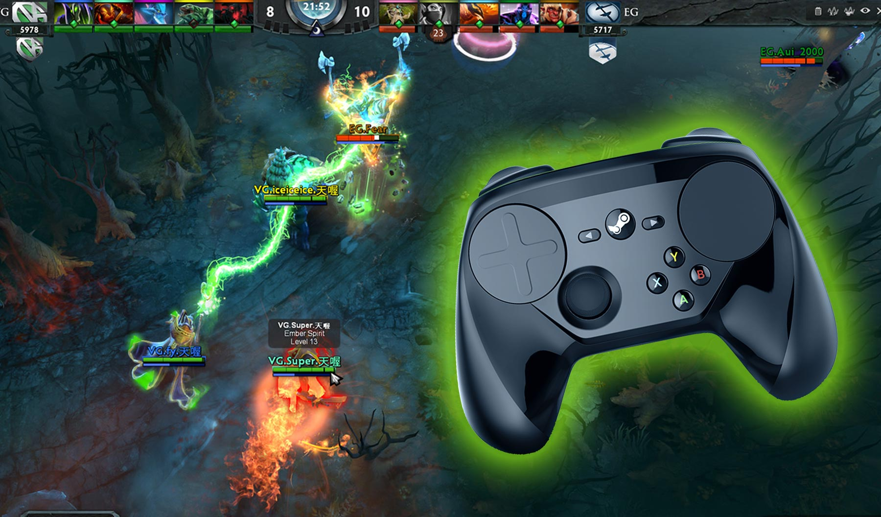 Play Dota 2 with Controller