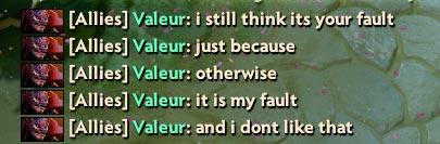 Dota 2 Blaming others