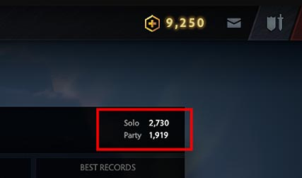 Solo and Party MMR