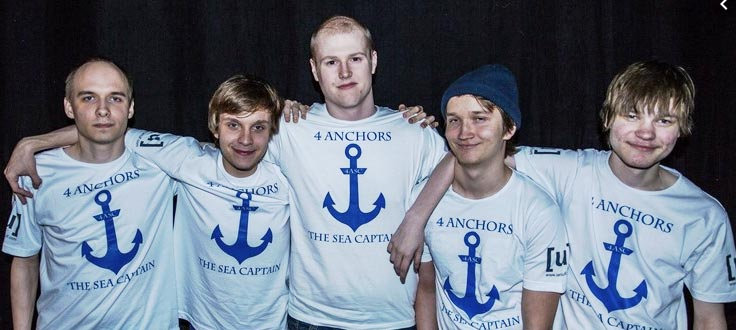 Jerax Dota Team 4 Anchors + One Sea Captain