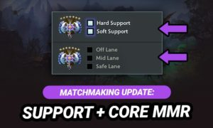 New Dota 2 Ranked Roles: Core and Support MMR