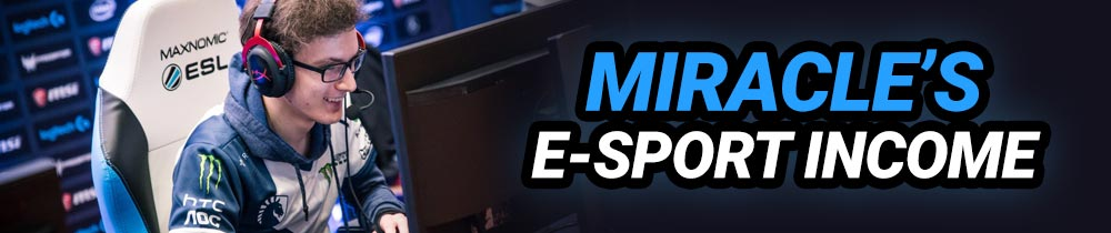 Dota 2 Miracle's E-Sport Income