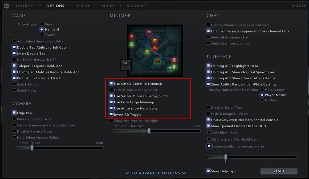 Dota 2 Minimap Settings