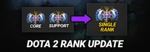 New Dota 2 Single Matchmaking Rank with Role Performance