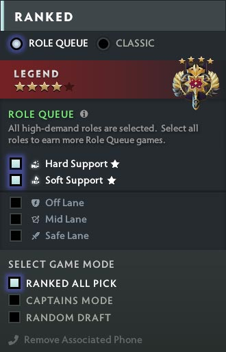 New Role Queue Handicap Search